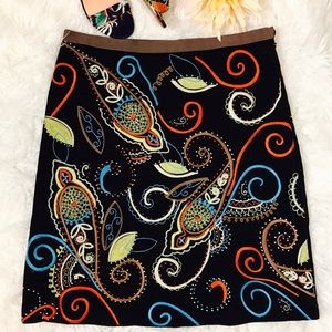 Boden Paisley Embroidered Skirt